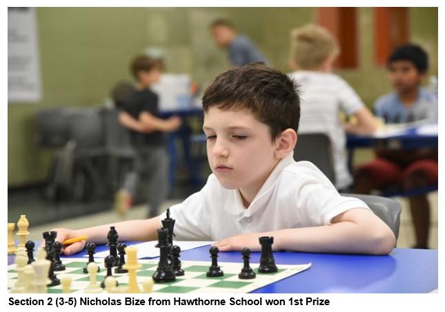 Section 2 (3-5) Nicholas Bize from Hawthorne School won 1st Prize