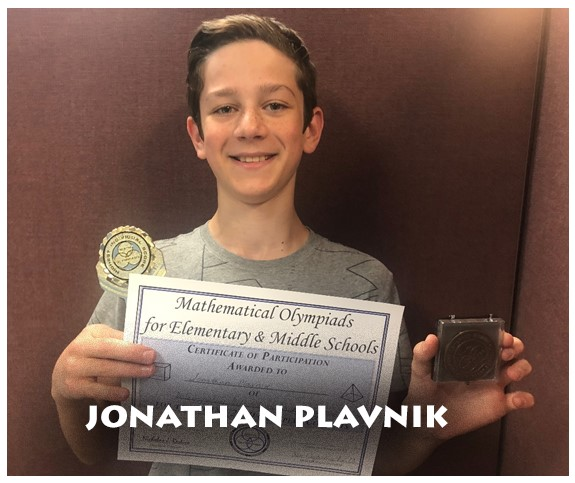 6th grade ICA student: Jonathan Plavnik