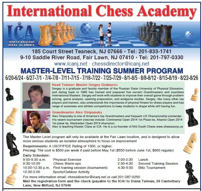 Chess Camp: 2016 Master Camp Program